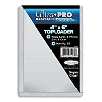 Ultra-Pro 4X6 Top Loaders - 25 Per Pack (Quantity of 100)