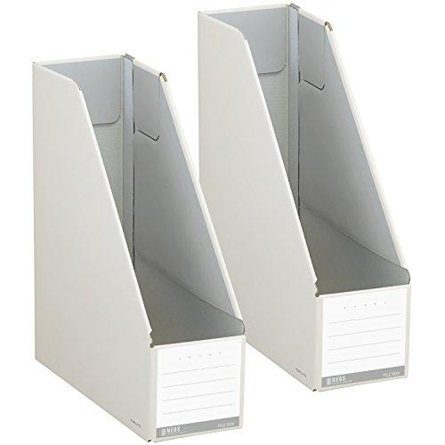 RoomClip商品情報 - コクヨ ファイル ファイルボックス NEOS スタンドタイプ A4 2個セット オフホワイト フ-NEL450WX2