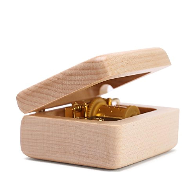 オルゴール 手回り 木制 小型 ミニ 置物 工芸品 誕生日 結婚祝い 母の日 ギフト プレゼント