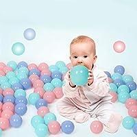 Qenci プラスチック製プレイボール 5.5cm カラフルなボール ソフトオーシャンボールピット 幼児 赤ちゃん 子供 50pcs 33446