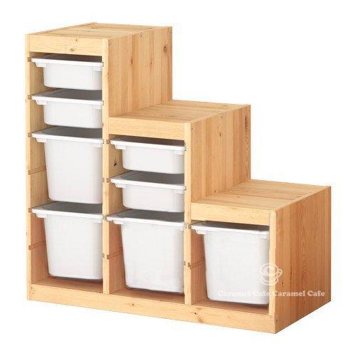 IKEA TROFAST(トロファスト)収納コンビネーション パイン材 ホワイト/ホワイト 94x44x91 cm PK-WS4WM4