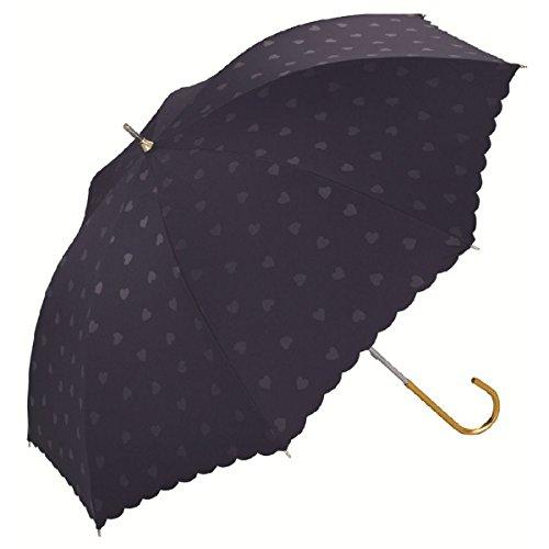 WPC 【遮光率99%以上・遮熱効果】晴雨兼用傘(ハート)【ネイビー/**】