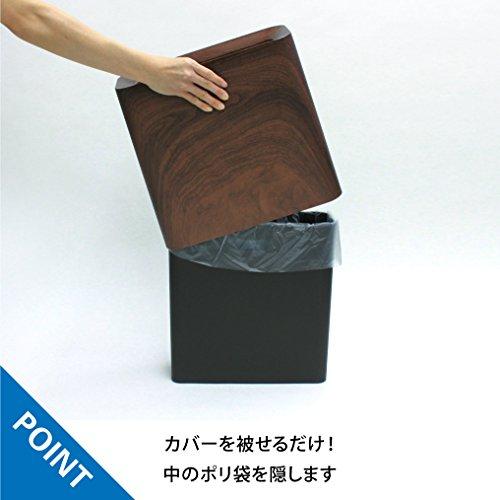 『イデアコ ゴミ箱 チューブラー ハイグランデ ローズウッド 11.5L』の3枚目の画像
