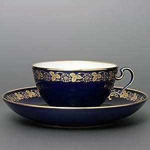 セーブル(Sevres) ティーカップ&ソーサー オボイード(No.108) セーブルブルー ハンドメイド