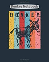 Donkey Notebook: donkey pet  College Ruled - 50 sheets, 100 pages - 8 x 10 inches