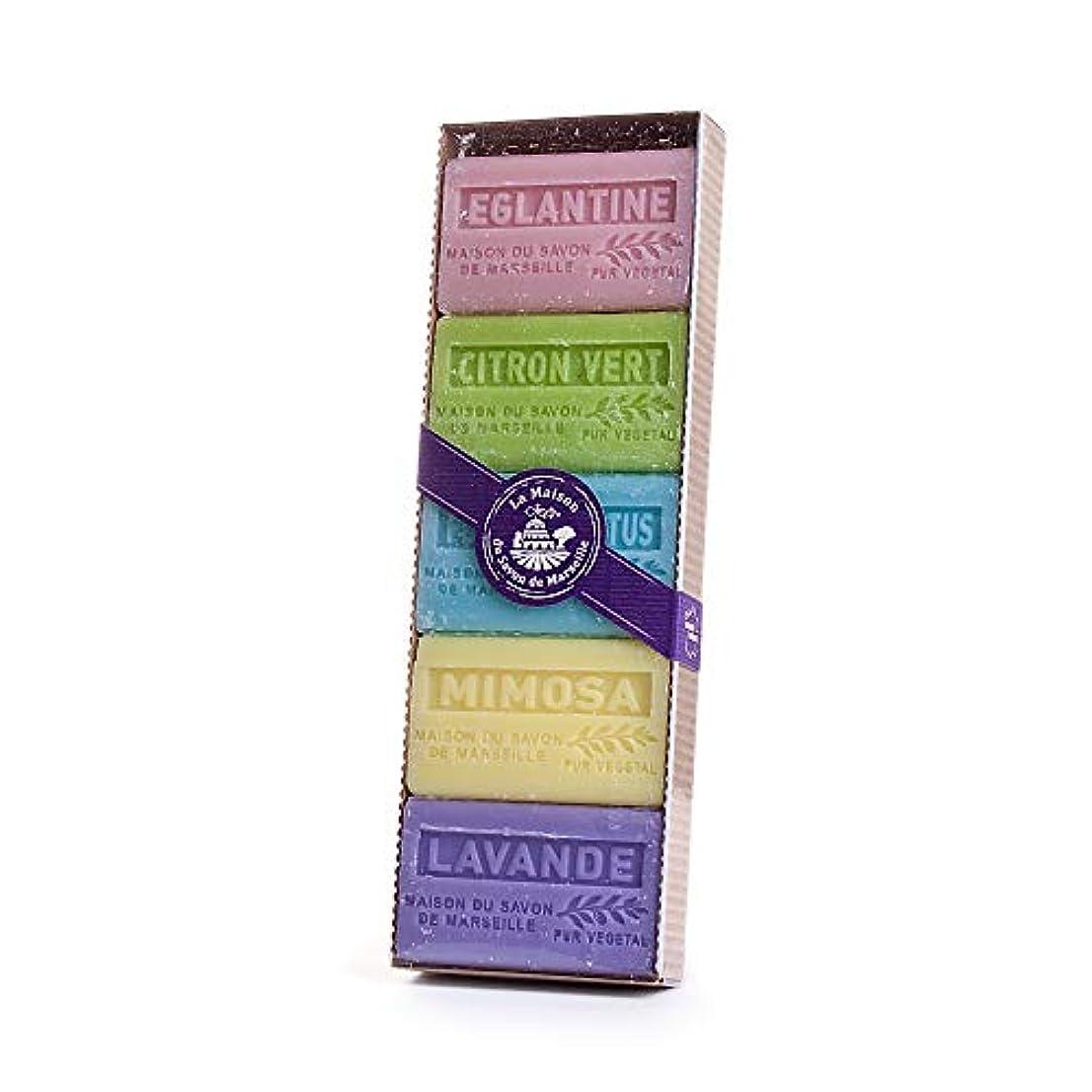 校長実用的ピースLa Maison du Savon de Marseille (ラ?メゾン?ド?サボン) 石鹸セット(5個入り) 60g