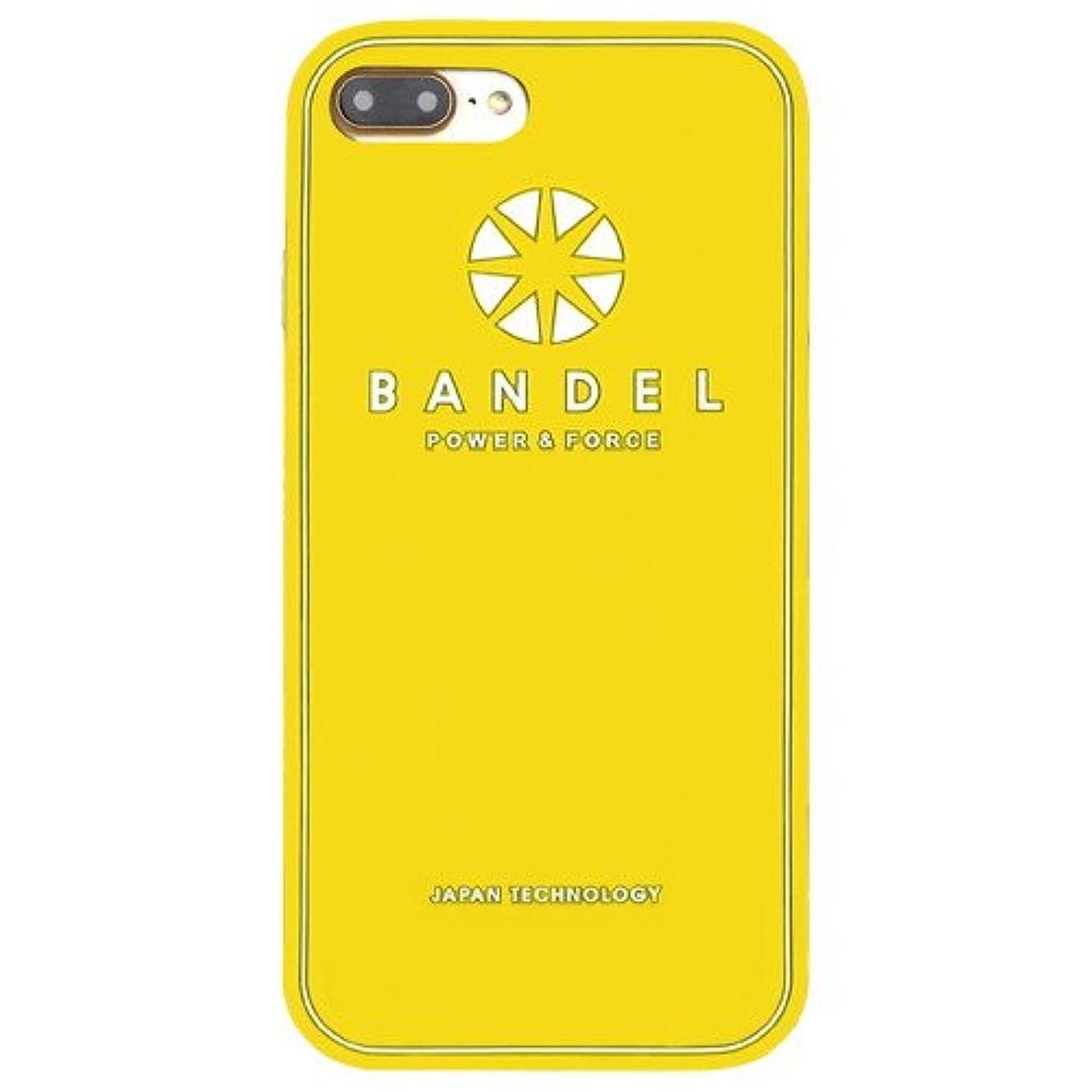 接地フォーマットメタルラインバンデル(BANDEL) ロゴ iPhone 7 Plus専用 シリコンケース [イエロー]