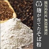 麹が育てた無農薬栽培そば粉【鹿児島県産】 1kg 麹堆肥使用