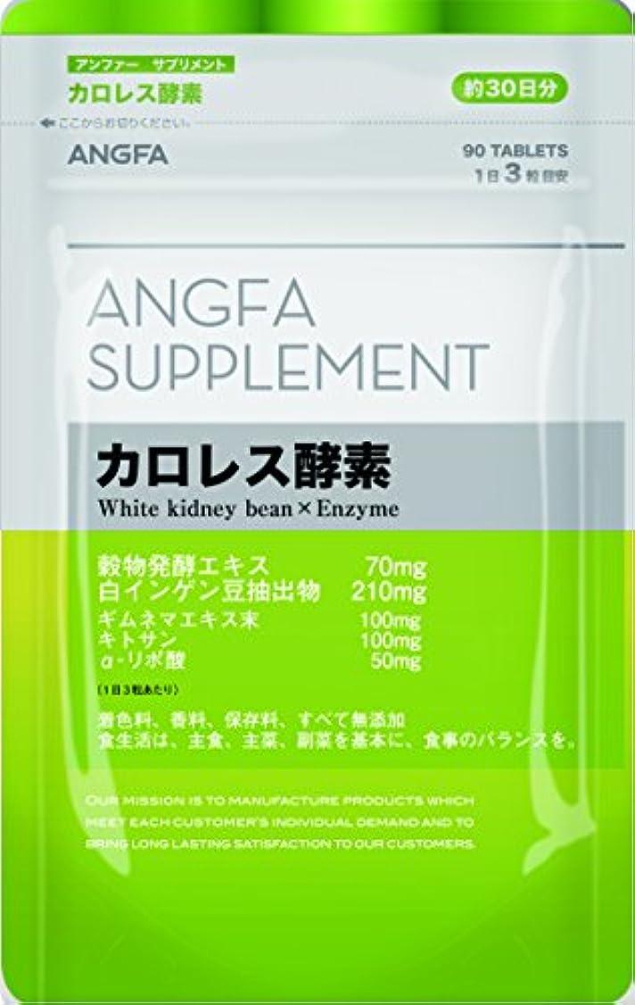 皮肥料乳白アンファー (ANGFA) サプリメント カロレス酵素 90粒 ダイエットサポート サプリメント