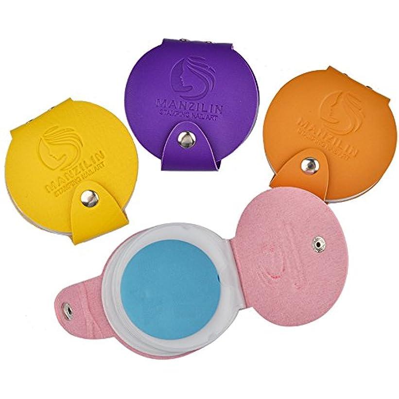 バンケット騒々しいイサカスタンププレートケース イメージプレート収納ケース ネイルスタンプコレクションネイルツール12位(直径は5.6cmの円形スタンププレートに適する) (ピンク)