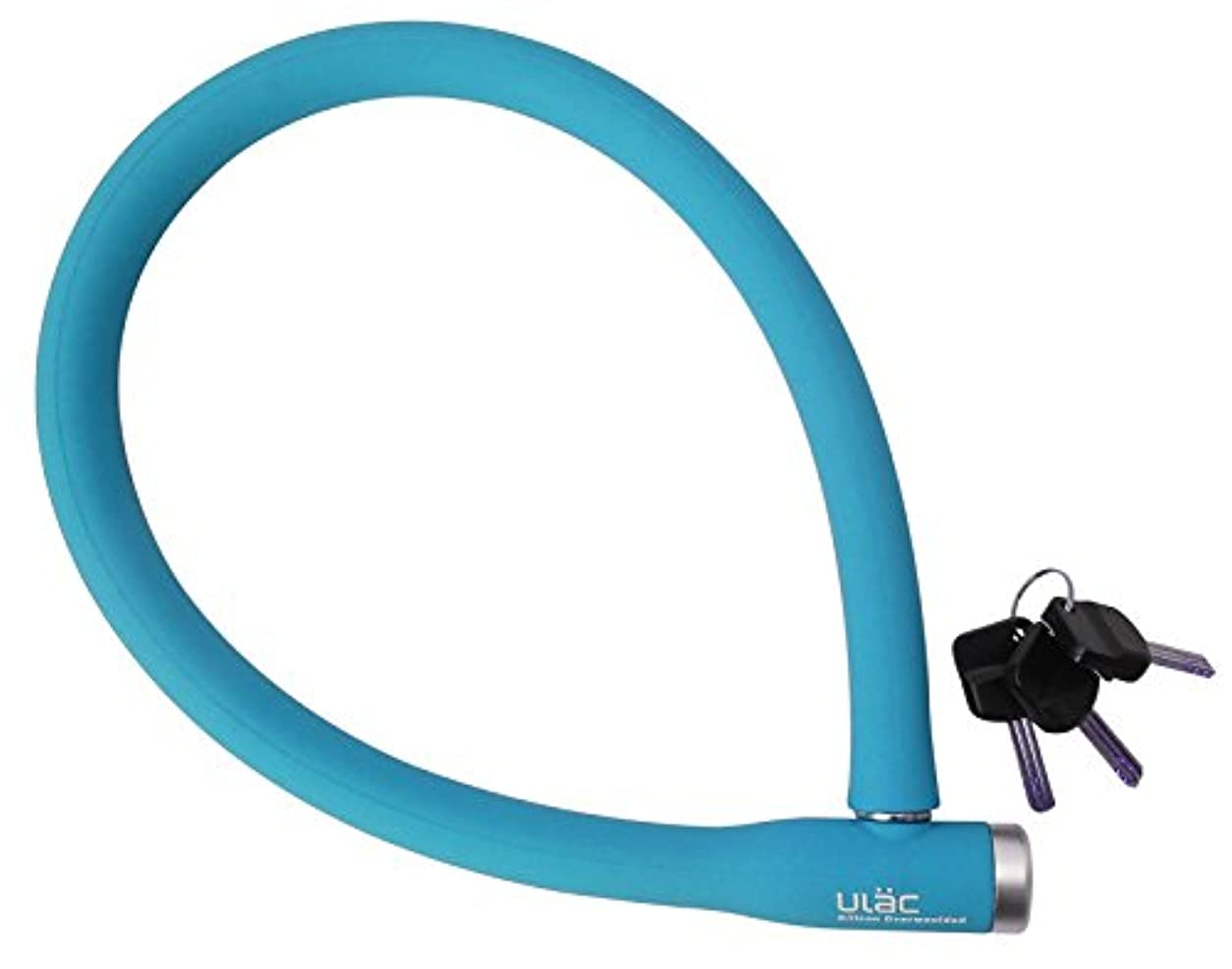 哲学博士酸度ビヨン自転車 鍵 ULAC ソフトタッチシリコンボディ ケーブルロック BERLIN ST3 70cm ブルー 71713