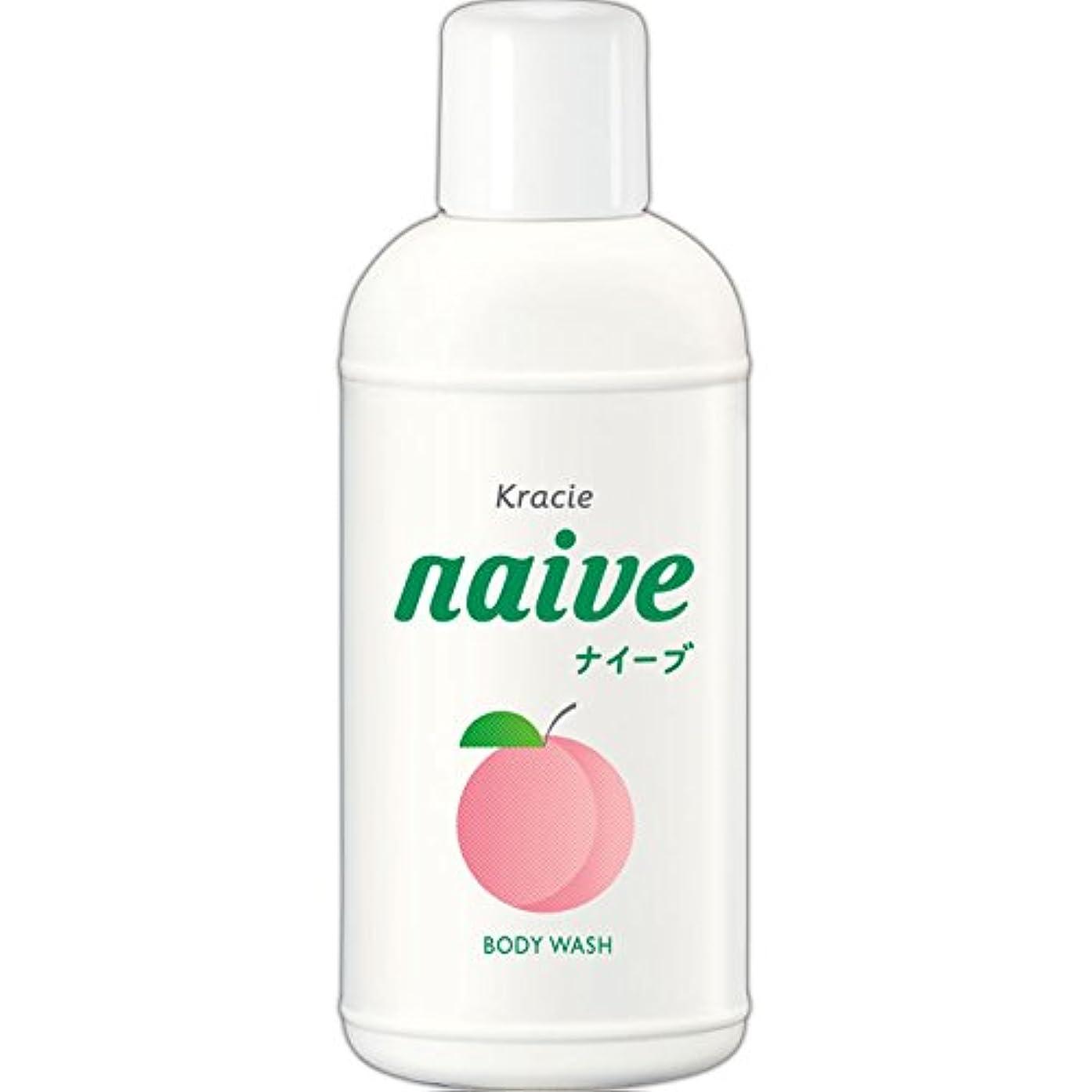 くすぐったい角度上下するナイーブ ボディソープ 桃の葉エキス配合 80ml