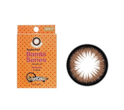 エンジェルカラー バンビシリーズ 1箱2枚入り(1ヶ月) アーモンド 着色直径 13.8mm【PWR】±0.00(度なし)