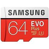 Samsung EVO Plus Class 10 Micro SDXC with Adapter, 64GB (MB-MC64GA)