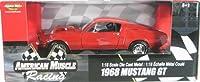 #33707 Ertl American Muscle Racing 1968 Mustang GT Red 1/18 Scale Diecast [並行輸入品]