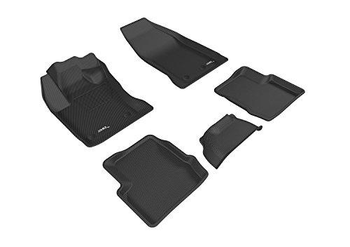 3d Maxpider l1fa00501509Completeセットカスタムフィット全天候フロアマットFiat 500Xの選択モデル–Kaguゴム(ブラック)