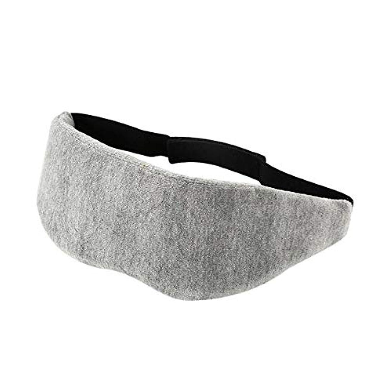 見かけ上緊張する順応性HUICHEN ゴーグルに通気性の眼圧を逃がし、目の疲労を遮断厚いメモリ泡、昼寝旅行アーティファクトゴーグルを寝3Dゴーグル (Color : Gray)