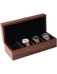 木製腕時計ケース 腕時計収納ケース高級ウォッチボックス 父の日敬老の日誕生日プレゼント (4本収納)