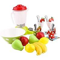 KESOTO 27点 子供 ごっこ遊び 果物モデル キッチン 調理 カップ ジューサー スプーン 玩具 装飾