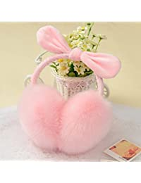 CJC 耳カバー イヤーマフ イヤーマフは暖かい冬の女の子を折りたたみ可能な5つの色を保つ (色 : Pink)