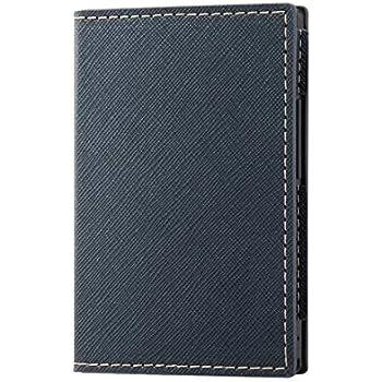 カードケータイ KY-01L 手帳型ケース スリムコンパクト/ブラックブラック 【ICカードポケット付き】【ストラップ使用可能】