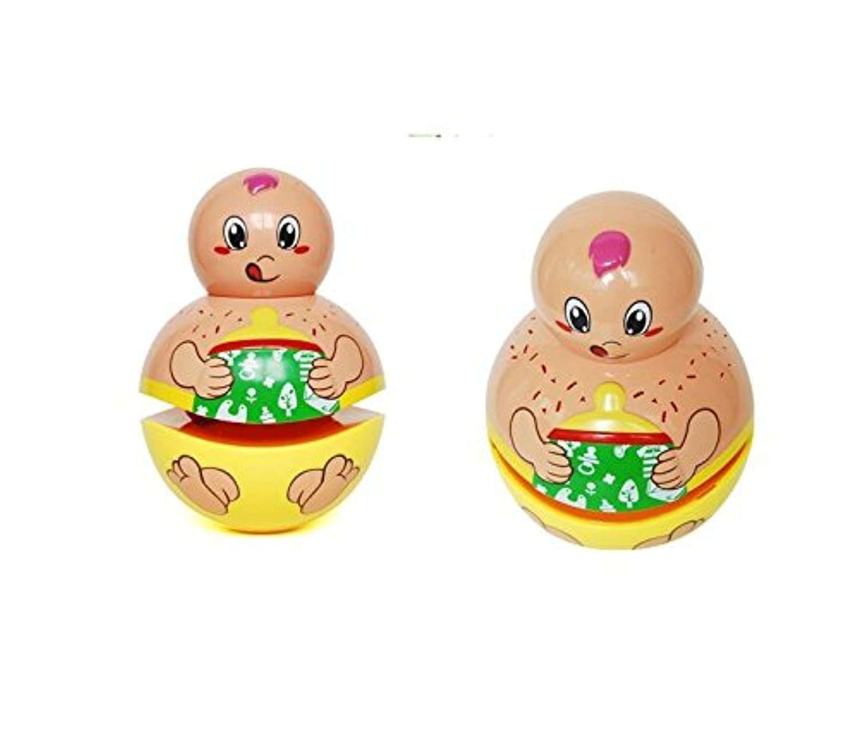 wanrane Cute Kids Roly - Poly Toy Rabbitサウンドライトパズルクラス投影ストーリーGutta Rattle音楽スティック(ピンクウサギ)