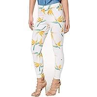 HUE Tropical Floral Simply Stretch Skimmer Leggings Medium
