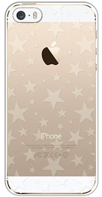 伴う乞食パーティションsslink iPhone5/5s/SE ケース クリア 透かし半透明 星 スター アイフォン ハードケース カバー ジャケット スマートフォン スマホケース au softbank docomo