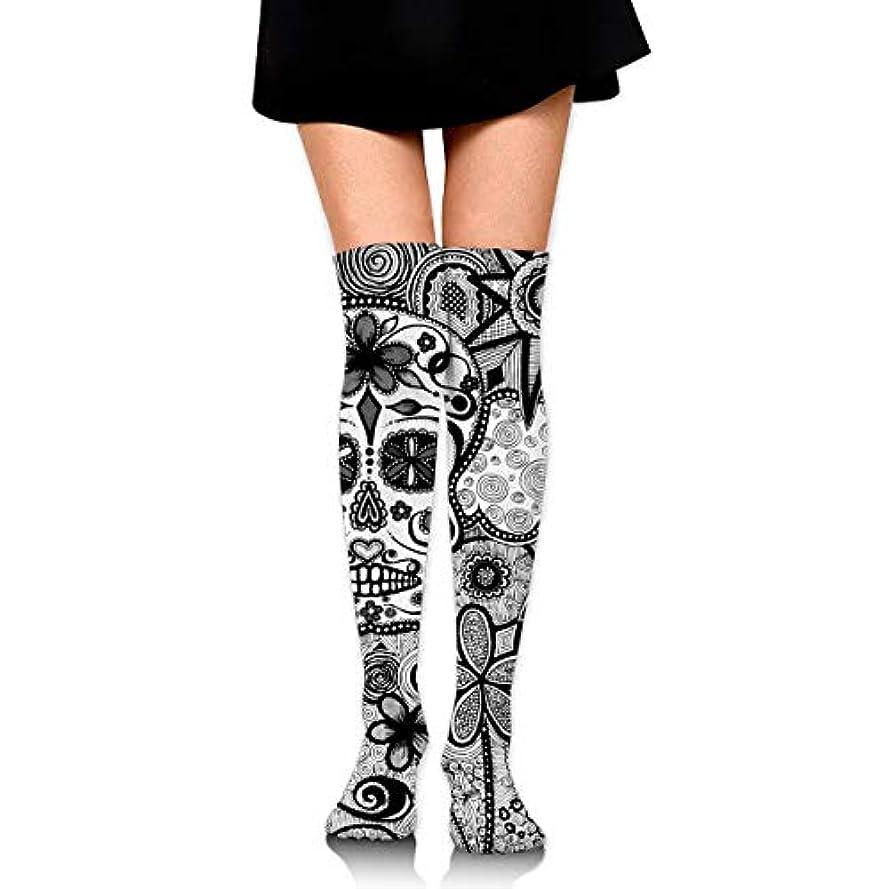 八百屋コウモリ正しいMKLOS 通気性 圧縮ソックス Breathable Thigh High Socks Over Exotic Psychedelic Print Compression High Tube Thigh Boot Stockings...