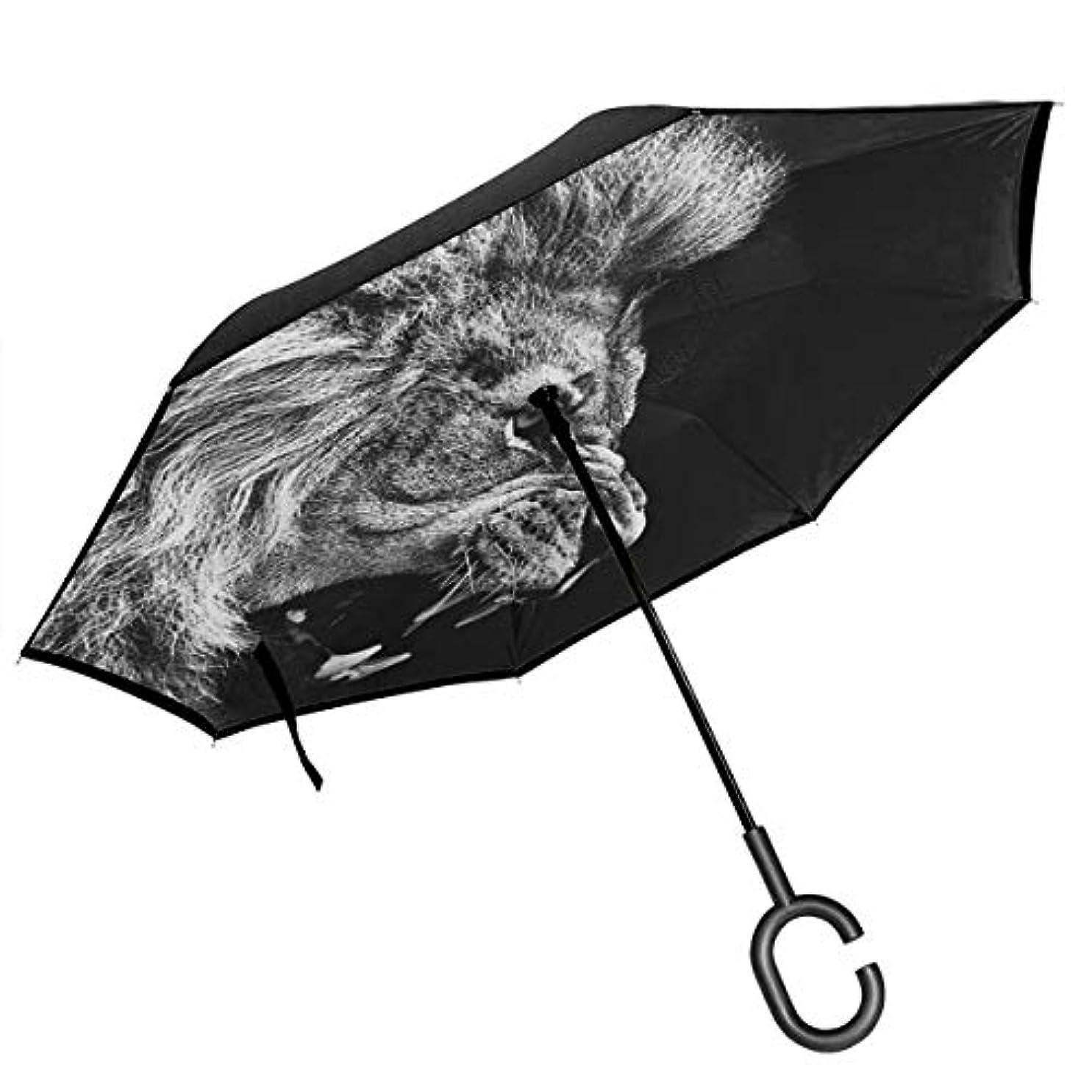 意志に反する重大おとこ逆さ傘 逆折り式傘 車用傘 耐風 撥水 遮光遮熱 大きい 手離れC型手元 梅雨 紫外線対策 晴雨兼用 ビジネス用 車用 UVカット