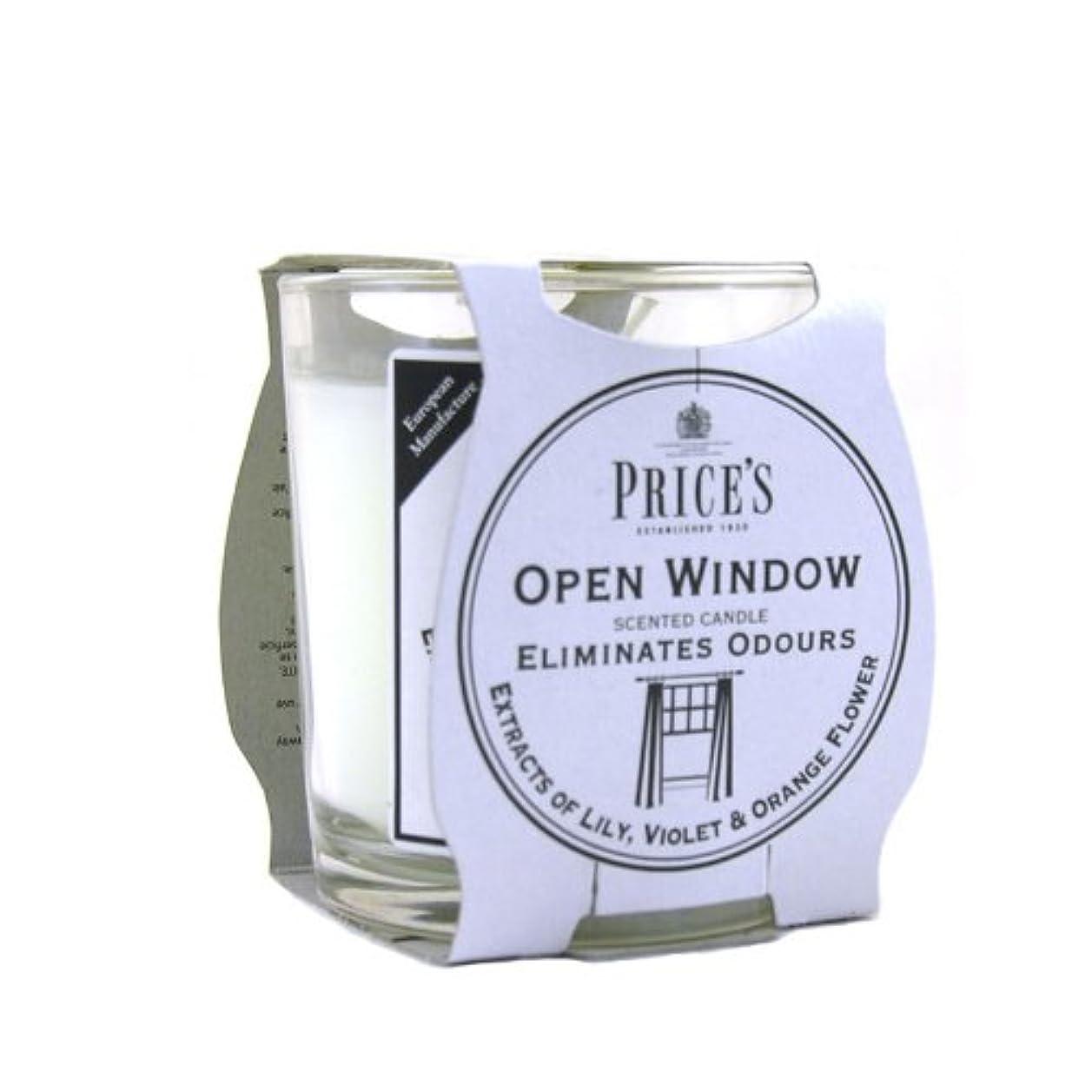 盆地第早いPrice′s(プライシズ) Fresh Air CANDLE TIN Jar type (フレッシュエアー キャンドル ジャータイプ) OPEN WINDOW(オープンウィンドゥ)