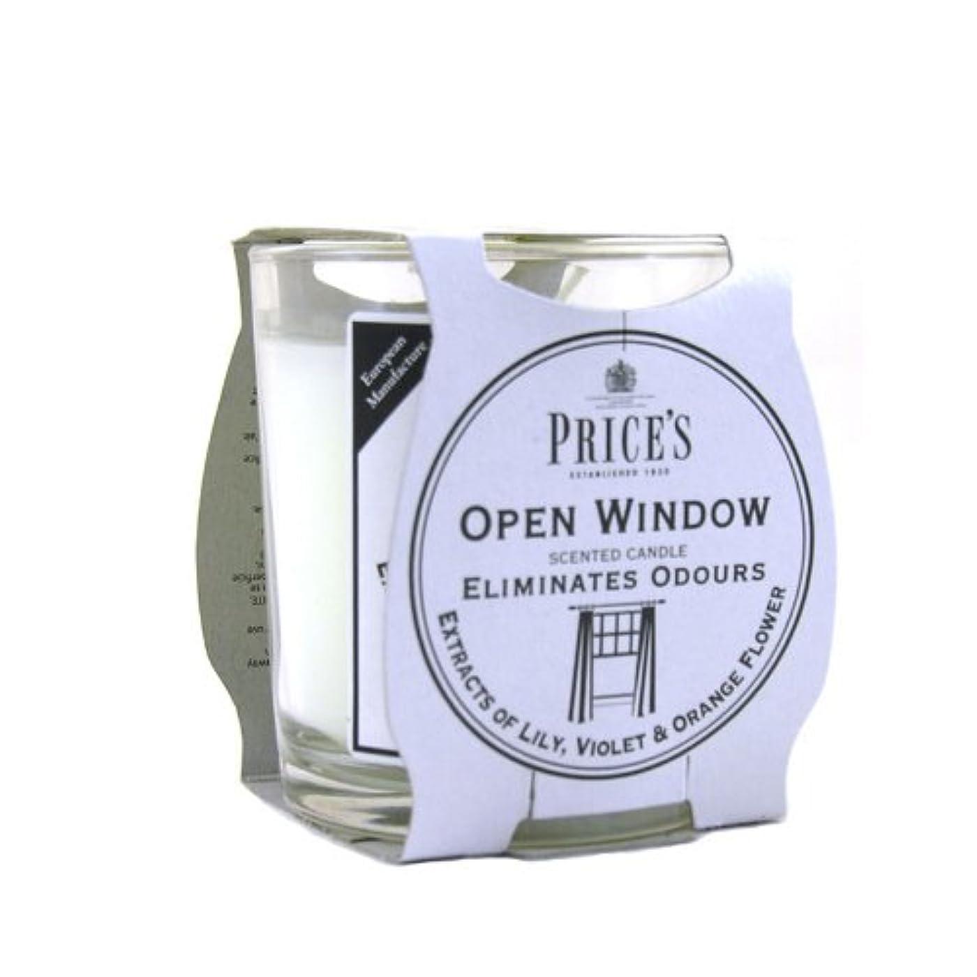 刻む評価可能拷問Price′s(プライシズ) Fresh Air CANDLE TIN Jar type (フレッシュエアー キャンドル ジャータイプ) OPEN WINDOW(オープンウィンドゥ)