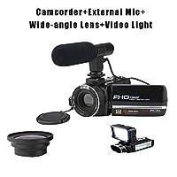 3.0インチ 触れる 270°フリップスクリーン 広角 ビデオカメラ 2,400万 ナイトビジョン HD デジタル カメラ 1080P 8倍ズーム マイク WIFI リモコン 防振 記録 ビデオレコー,E