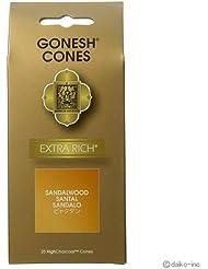 ガーネッシュ GONESH エクストラリッチ サンダルウッド(白檀) お香コーン25ヶ入 6個セット