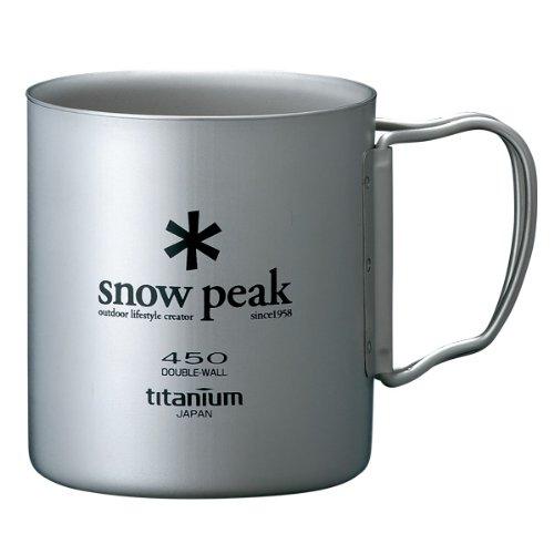 Taza De Doble De Titanio 450 MG-053R Snow Peak Nuevo Japón Importado Envío Gratuito