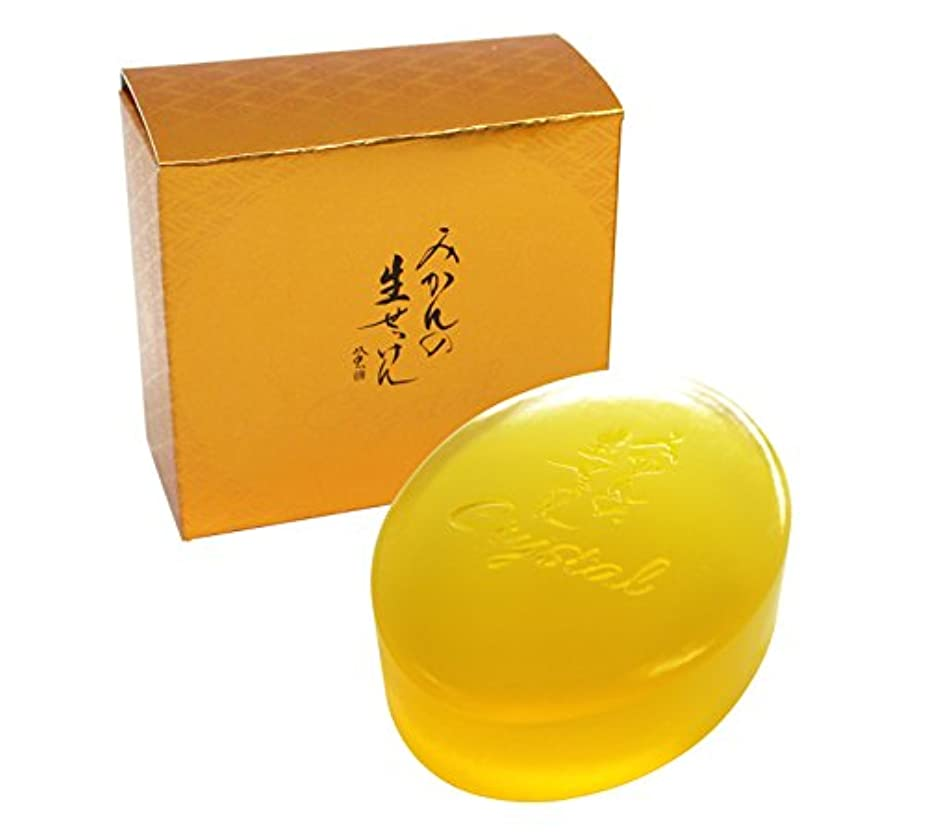 陰謀バーベキュー修正する美香柑 みかんの生せっけん 洗顔石けん 固形タイプ(枠練り) 90g