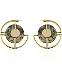 Danielle Nicole Davina shiny gold tone hoop earrings