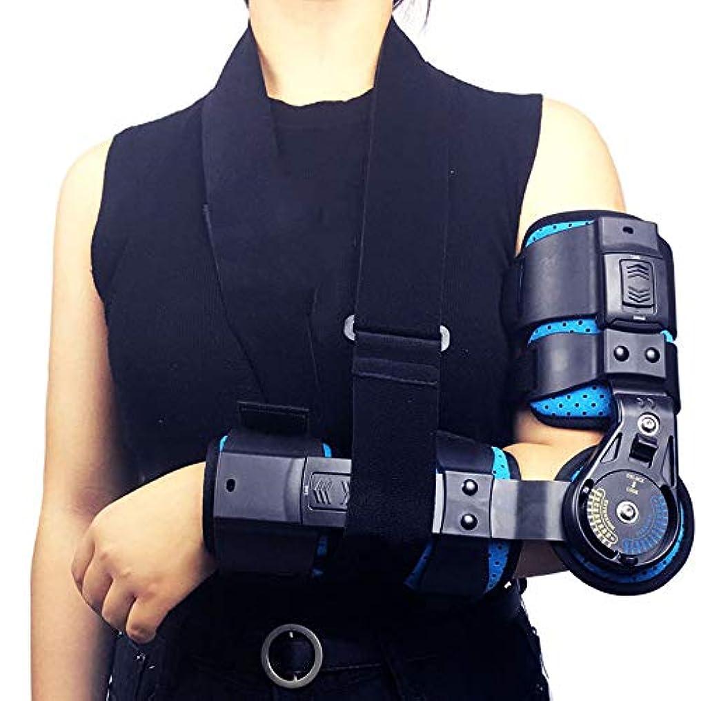 ヒンジ付き肘関節サポートベルト、後部OP肘関節サポートスタビライザースプリントアーム装具損傷回復サポート - 術後肘骨折リハビリテーション用,right