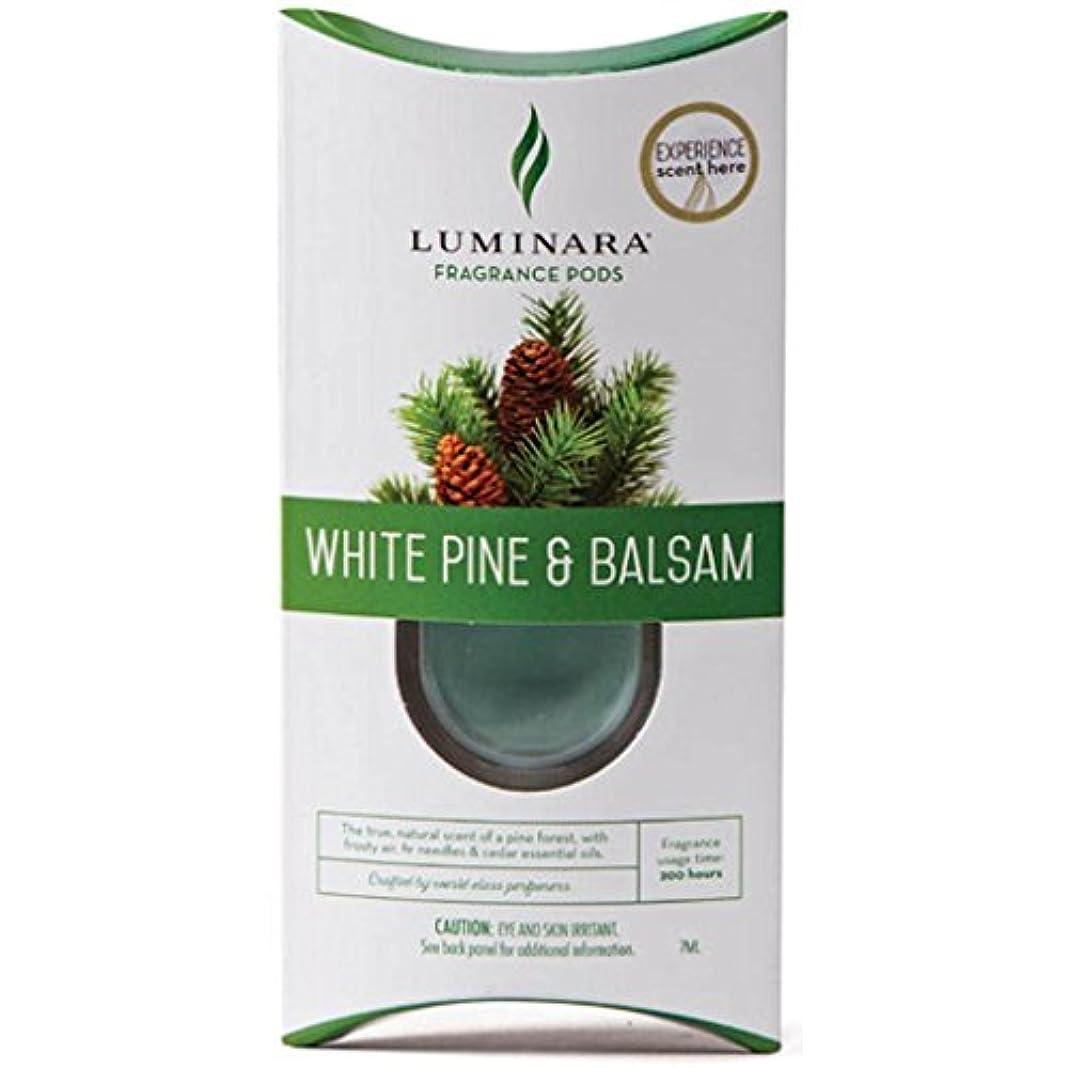 スモッグ百開いた1つLuminara FragranceカートリッジホワイトパインとBalsam | for Luminara Fragrance Diffusing Flameless Candleピラー