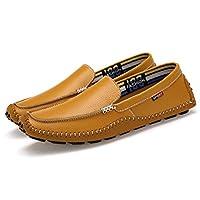 [アマングー] スリッポン ドライビングシューズ カジュアル 黒 白 はきやすい オシャレ 大きいサイズ モカシン メンズ ローカット 紳士靴 フォーマル 通勤用 大人 柔軟性 屈曲性 ブラウン 23CMー28.5CM