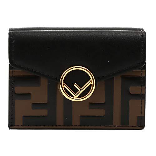 [フェンディ] FENDI レディース 財布 3つ折り財布 MICRO TRIFOLD 8M0395 A659 F13VK ブラウン ブラック