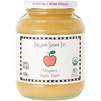 オーガニック アップルソース 瓶タイプ (有機 化学調味料無添加 砂糖不使用 100% 天然 ブラウンシュガーファースト)