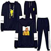 Flyself Unisex Billie Eilish 2 Pieces Plus Size Tracksuit Sets Long Sleeve Hoodie Pullover Sweater and Long Pants Set Jogging Sweatsuits