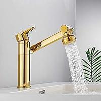 バスルームバルコニーホテルに適し蛇口中流域水栓エレガントな浴室の蛇口流域水栓の銅ホット&コールド,金