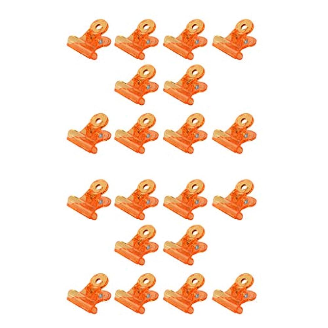争い支配的背骨20倍の再利用可能なアクリルネイルポリッシュリムーバークリップネイルアートは、オレンジのクリップを染み込ませます