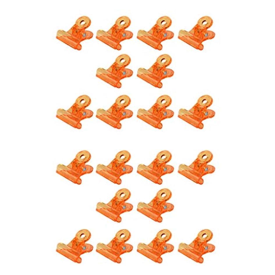発言する擁するバリア20倍の再利用可能なアクリルネイルポリッシュリムーバークリップネイルアートは、オレンジのクリップを染み込ませます