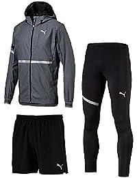 ランニングウェア 3点セット メンズ/プーマ PUMA ウィンドジャケット パンツ タイツ 517503 517505 517517/男性用 ジョギング マラソン トレーニング スポーツウェア/Pumaset-A
