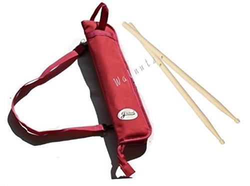 【ELEEJE】 豊富な カラーの バリエーション ドラム スティック バッグ (バチセット、ピンク, Nature)
