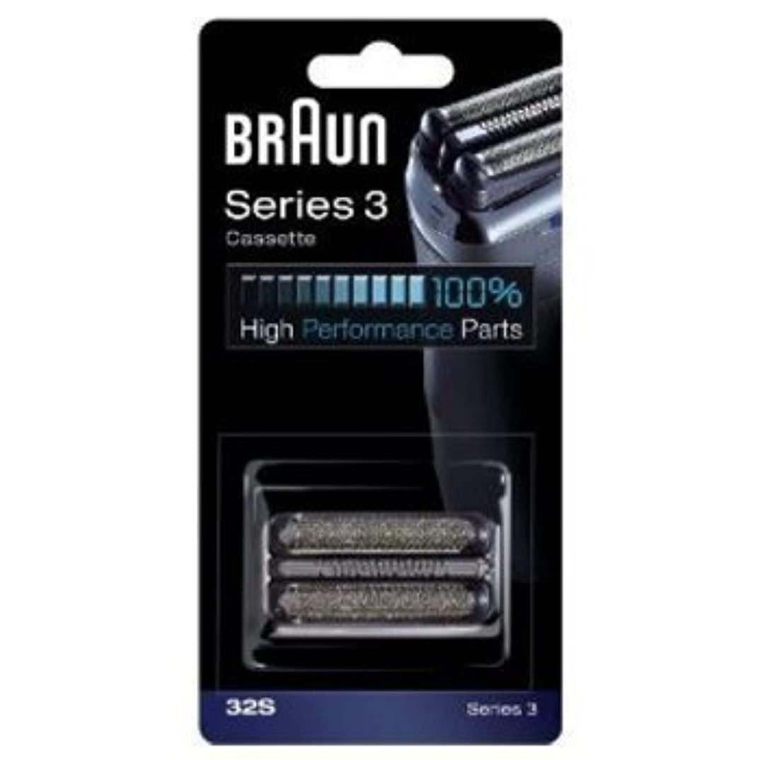 シマウマ飛躍望むBraun 32S Shaver Head Replacement Foil & Cutter Cassette Series 3 (Silver) by Braun [並行輸入品]