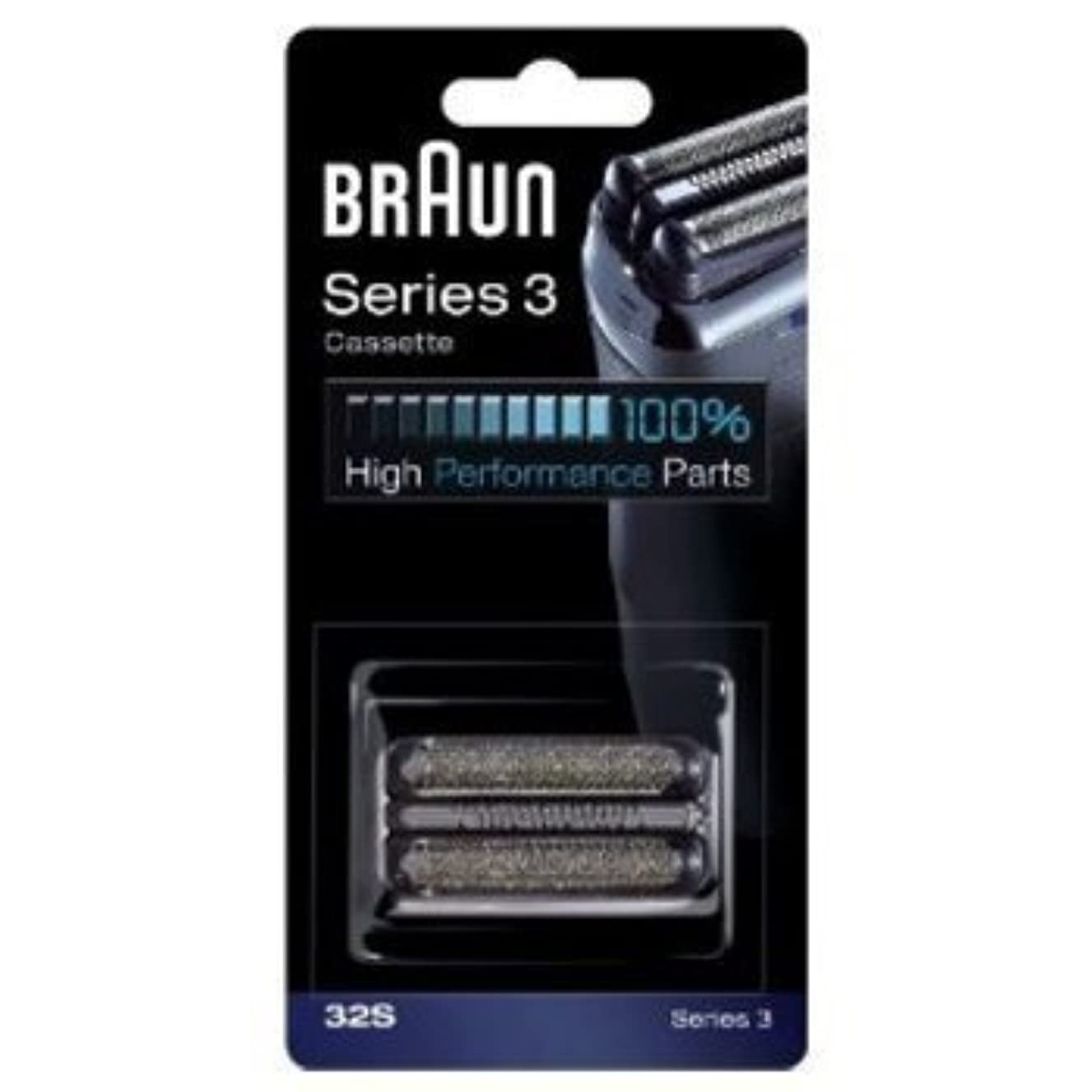 硬化する課すエキスBraun 32S Shaver Head Replacement Foil & Cutter Cassette Series 3 (Silver) by Braun [並行輸入品]